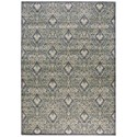 """Nourison Graphic Illusions 7'9"""" x 10'10"""" Grey Rectangle Rug - Item Number: GIL11 GRY 79X1010"""