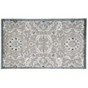 """Nourison Graphic Illusions 2'3"""" x 3'9"""" Grey Rectangle Rug - Item Number: GIL12 GRY 23X39"""