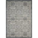 "Nourison Graphic Illusions 5'3"" x 7'5"" Grey Rectangle Rug - Item Number: GIL12 GRY 53X75"