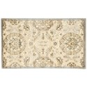 """Nourison Graphic Illusions 2'3"""" x 3'9"""" Ivory Rectangle Rug - Item Number: GIL12 IV 23X39"""