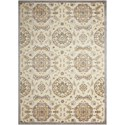 """Nourison Graphic Illusions 5'3"""" x 7'5"""" Ivory Rectangle Rug - Item Number: GIL12 IV 53X75"""