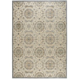 "Nourison Graphic Illusions 7'9"" x 10'10"" Ivory Rectangle Rug"