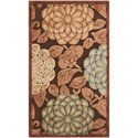 """Nourison Graphic Illusions 2'3"""" x 3'9"""" Brown Rectangle Rug - Item Number: GIL13 BRN 23X39"""
