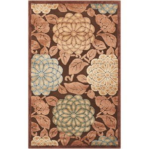 """Nourison Graphic Illusions 3'6"""" x 5'6"""" Brown Rectangle Rug"""