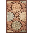 """Nourison Graphic Illusions 3'6"""" x 5'6"""" Brown Rectangle Rug - Item Number: GIL13 BRN 36X56"""