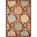 """Nourison Graphic Illusions 5'3"""" x 7'5"""" Brown Rectangle Rug - Item Number: GIL13 BRN 53X75"""