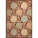 """Nourison Graphic Illusions 7'9"""" x 10'10"""" Brown Rectangle Rug - Item Number: GIL13 BRN 79X1010"""