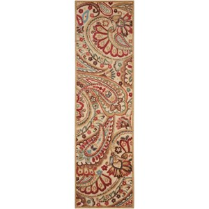 "Nourison Graphic Illusions 2'3"" x 8' Lt Multi Runner Rug"