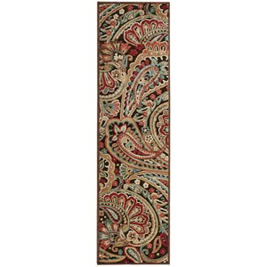 "Nourison Graphic Illusions 2'3"" x 8' Multicolor Runner Rug"