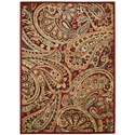 """Nourison Graphic Illusions 2'3"""" x 3'9"""" Red Rectangle Rug - Item Number: GIL14 RED 23X39"""