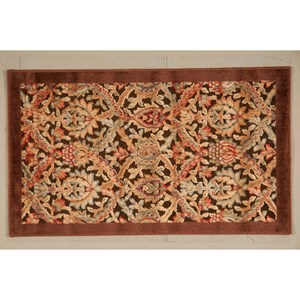"2'3"" x 3'9"" Chocolate Rectangle Rug"