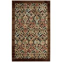 """Nourison Graphic Illusions 3'6"""" x 5'6"""" Chocolate Rectangle Rug - Item Number: GIL15 CHO 36X56"""
