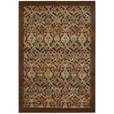 "Nourison Graphic Illusions 5'3"" x 7'5"" Chocolate Rectangle Rug - Item Number: GIL15 CHO 53X75"