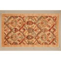 "Nourison Graphic Illusions 2'3"" x 3'9"" Light Gold Rectangle Rug - Item Number: GIL15 LGD 23X39"