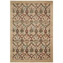 "Nourison Graphic Illusions 5'3"" x 7'5"" Light Gold Rectangle Rug - Item Number: GIL15 LGD 53X75"
