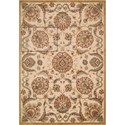 "Nourison Graphic Illusions 5'3"" x 7'5"" Beige Rectangle Rug - Item Number: GIL17 BGE 53X75"