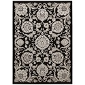 """Nourison Graphic Illusions 3'6"""" x 5'6"""" Black Rectangle Rug - Item Number: GIL17 BLK 36X56"""