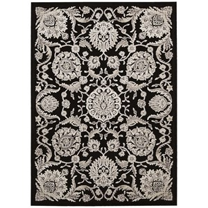 "7'9"" x 10'10"" Black Rectangle Rug"