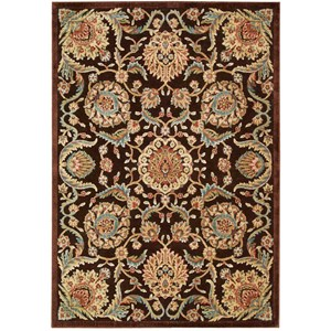 "Nourison Graphic Illusions 5'3"" x 7'5"" Chocolate Rectangle Rug"