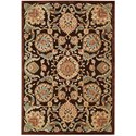 "Nourison Graphic Illusions 5'3"" x 7'5"" Chocolate Rectangle Rug - Item Number: GIL17 CHO 53X75"