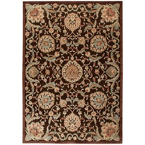 "7'9"" x 10'10"" Chocolate Rectangle Rug"