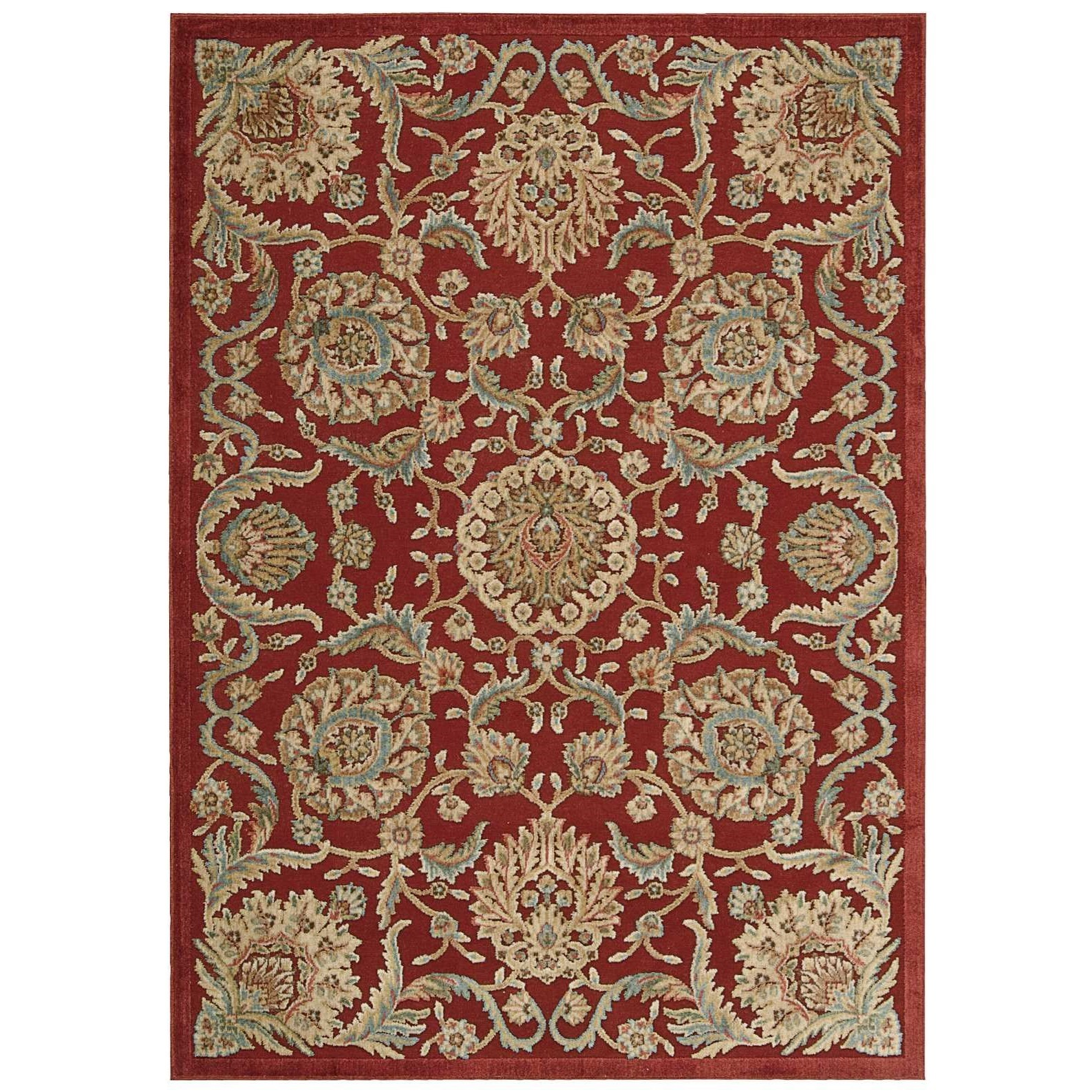 """Nourison Graphic Illusions 2'3"""" x 3'9"""" Red Rectangle Rug - Item Number: GIL17 RED 23X39"""