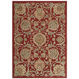 """Nourison Graphic Illusions 2'3"""" x 3'9"""" Red Rectangle Rug"""