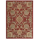 "Nourison Graphic Illusions 7'9"" x 10'10"" Red Rectangle Rug - Item Number: GIL17 RED 79X1010"