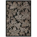 "Nourison Graphic Illusions 5'3"" x 7'5"" Black Rectangle Rug - Item Number: GIL19 BLK 53X75"