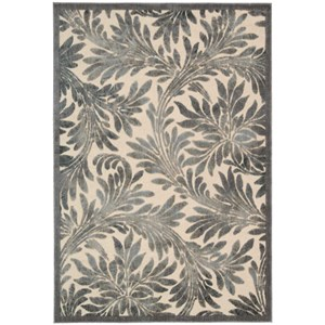 "Nourison Graphic Illusions 2'3"" x 3'9"" Ivory Rectangle Rug"