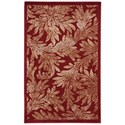 "Nourison Graphic Illusions 2'3"" x 3'9"" Red Rectangle Rug - Item Number: GIL19 RED 23X39"