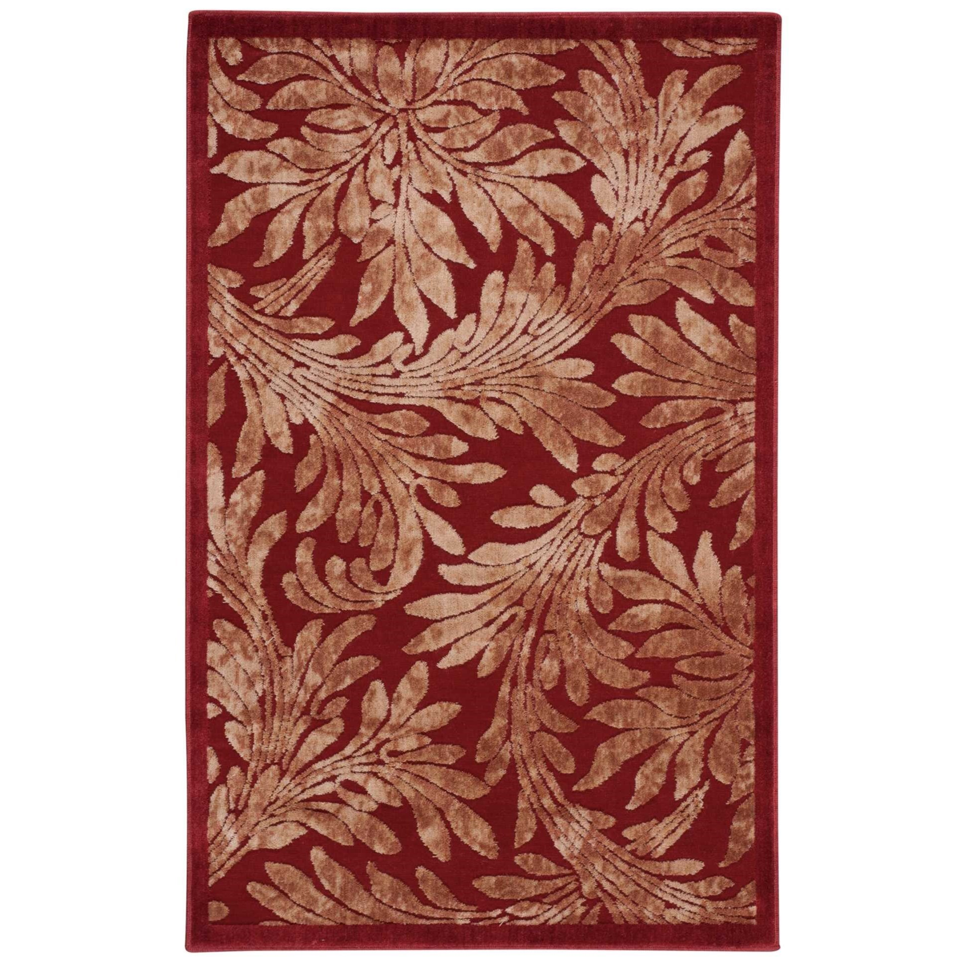 """3'6"""" x 5'6"""" Red Rectangle Rug"""
