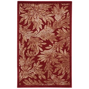 "3'6"" x 5'6"" Red Rectangle Rug"