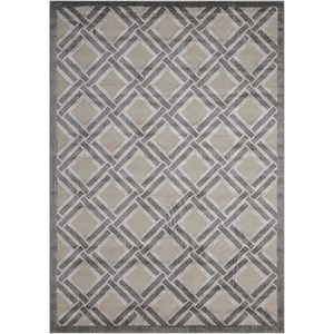 "Nourison Graphic Illusions 2'3"" x 3'9"" Grey Rectangle Rug"