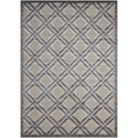 "Nourison Graphic Illusions 3'6"" x 5'6"" Grey Rectangle Rug - Item Number: GIL21 GRY 36X56"