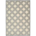 "Nourison Graphic Illusions 2'3"" x 3'9"" Ivory Rectangle Rug - Item Number: GIL21 IV 23X39"