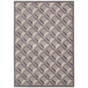 """Nourison Graphic Illusions 3'6"""" x 5'6"""" Stone Rectangle Rug - Item Number: GIL22 STONE 36X56"""
