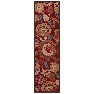 "Nourison Graphic Illusions 2'3"" x 8' Red Runner Rug"