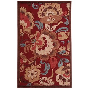 "Nourison Graphic Illusions 3'6"" x 5'6"" Red Rectangle Rug"