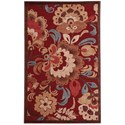 "Nourison Graphic Illusions 3'6"" x 5'6"" Red Rectangle Rug - Item Number: GIL23 RED 36X56"