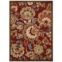"Nourison Graphic Illusions 5'3"" x 7'5"" Red Rectangle Rug - Item Number: GIL23 RED 53X75"