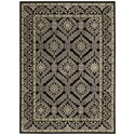 "Nourison Graphic Illusions 5'3"" x 7'5"" Black Rectangle Rug - Item Number: GIL24 BLK 53X75"