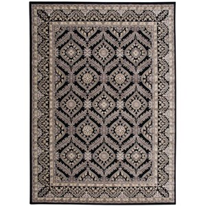 "Nourison Graphic Illusions 7'9"" x 10'10"" Black Rectangle Rug"