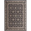 "Nourison Graphic Illusions 7'9"" x 10'10"" Black Rectangle Rug - Item Number: GIL24 BLK 79X1010"