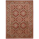"""Nourison Graphic Illusions 3'6"""" x 5'6"""" Red Rectangle Rug - Item Number: GIL24 RED 36X56"""