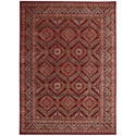 "Nourison Graphic Illusions 7'9"" x 10'10"" Red Rectangle Rug - Item Number: GIL24 RED 79X1010"