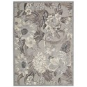 "Nourison Graphic Illusions 2'3"" x 3'9"" Grey Rectangle Rug - Item Number: GIL26 GRY 23X39"