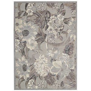 "Nourison Graphic Illusions 7'9"" x 10'10"" Grey Rectangle Rug"