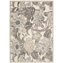 """Nourison Graphic Illusions 5'3"""" x 7'5"""" Ivory Rectangle Rug - Item Number: GIL26 IV 53X75"""