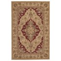 "Nourison Heritage Hall 3'9"" x 5'9"" Lacquer Rectangle Rug - Item Number: HE03 LAC 39X59"